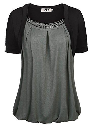 DJT Womens Bolero Sequins T shirt