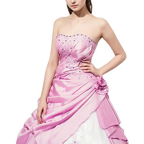senza Hungrybubble longuette Abito pizzo sexy Color Size da spalline Pink lungo con Size8 party Pink strass in club wqqP5rd