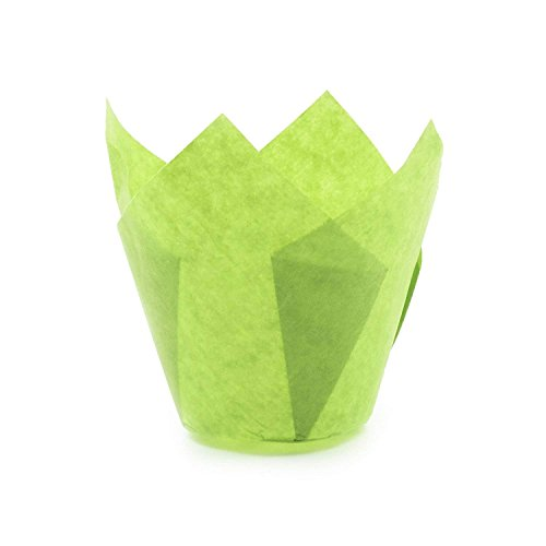 Green Tulip Baking Cups, Mini Size, Pack of 5000