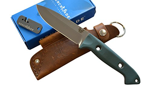 Benchmade 162 Bushcrafter Fixed Blade Knife w/ Free Benchmade Sharpener (Bushcraft Knife Sharpener compare prices)