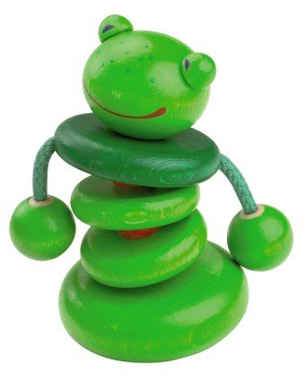Haba Croo-ak Frog Rattling Clutching Toy (Made in (Rattling Toy)