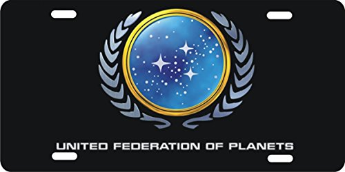 (ATD Design LLC Novelty license plate Star Trek United Federation of Planets)