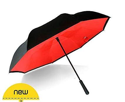 8dcbf0ec1c83 Generic Reverse Umbrella Creative Straight Handle Double-Layer ...