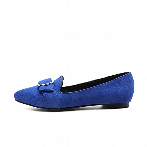 Charm Foot Womens Comfort Flat Pointed Toe Pumps Shoes Blue 8ajxu3