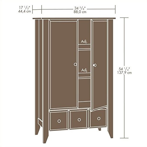 042666104173 - Sauder Shoal Creek Armoire, Oak carousel main 1