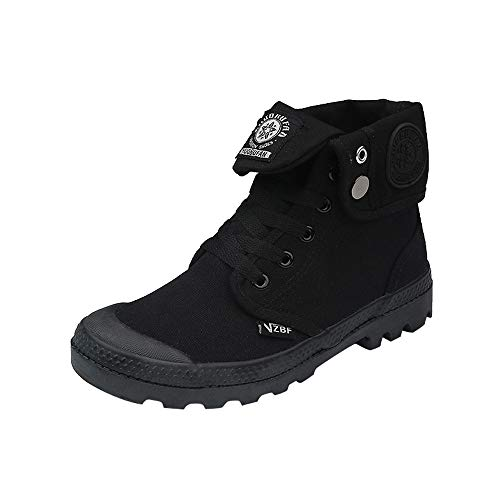 DENER❤️ Women Ladies High-top Sneakers,Canvas Waterproof Arch Support Wide Width Casual Sports Running Shoes Ankle Boots (Black, 8 US) (High Top Tennis Shoes For Ankle Support)