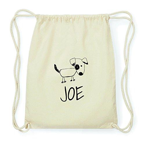 JOllipets JOE Hipster Turnbeutel Tasche Rucksack aus Baumwolle Design: Hund