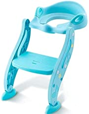 Potty Training Seat Neds Rover with Ladder for Kids and Toddlers Blue Chair Adjustable and Soft Cushion, Easy Assemble
