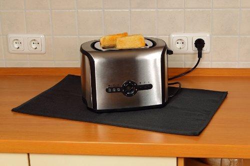 Firemat Black Edition 46x46 cm Feuerfestes Universal Schutztuch für Kaffeemaschinen,Induktionsherd etc. (Hitzebeständig bis 300 Grad)