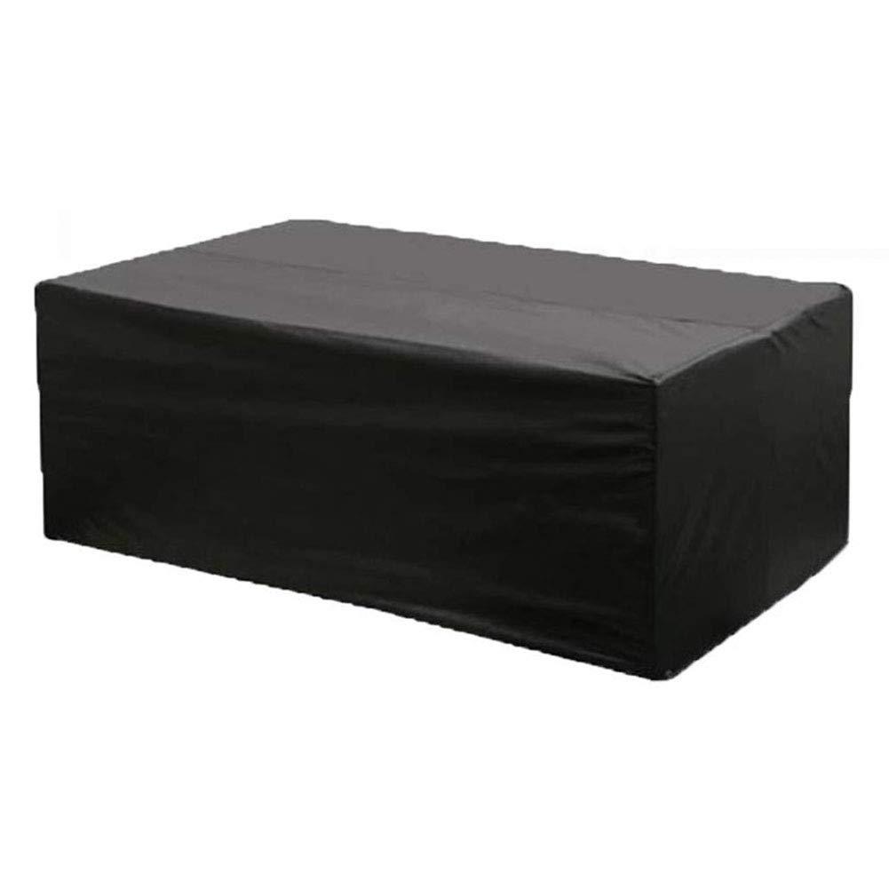 Copertura Set di mobili da Giardino per Esterni Tavolo e sedie per Patio, Rivestimento Rettangolare Resistente e Impermeabile in Tessuto Oxford, Nero (Dimensioni   250×250×90cm)