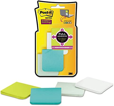 2 x 2 Post-it F2208SSFM Full Adhesive Notes Assorted Bora Bora Colors 25-Sheet 8//Pack