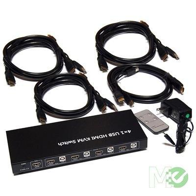 KVM 4UHM 4x1 USB HDMI KVM product image