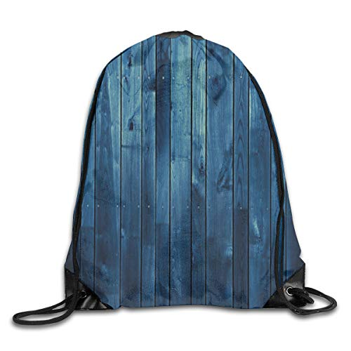 2019 Funny Drawstring Backpacks Bags Daypacks,Wooden Planks Texture Image Boards Floor Wall Lumber Rustic Home Decor,Adjustable For Sport Gym Traveling