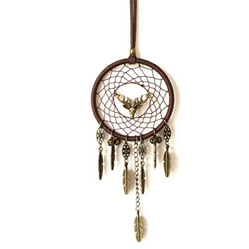 - Lehao Handmade Antler Feather Pendant Ornament for Car Kids Bed Room Wall Hanging Decor