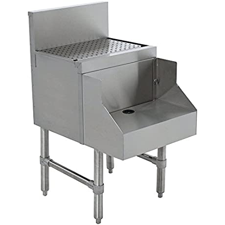 Advance Tabco PRDB 19 18 Prestige Series Stainless Steel Underbar Blender Station With Drainboard 18 X 25