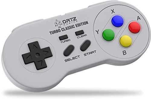 SNES Classic Mini Wireless Controller [Turbo Edition] Super Nintendo Cordless Gamepad Joypad
