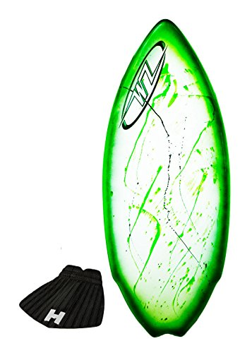 Wave Zone Performance Fish Hook - Fiberglass Skimboard for Riders up to 200 lbs - 51 1/2