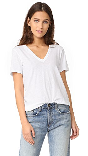 Rag Bone Donna T shirt Da A V Bianco Scollo And vvrqw6f1