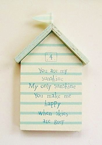 New East of India Beach Hut Mini Sign No 4 Picture Bathroom Accessory by East of - India Hut