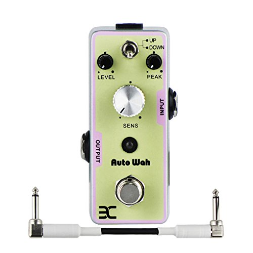 EX Guitar Bass Effect Pedal Digital Auto Wah Filter True Bypass, with One 10cm Patch Cable White by EX