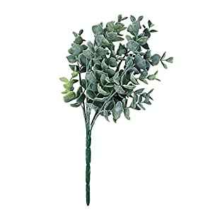 zbtrade 1 Bouquet Artificial Eucalyptus Fake Leaves Plant Wedding Party Home Decoration -Light Green 46