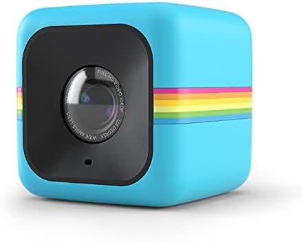 Polaroid Cube+ 1440p Mini Lifestyle Action Camera with Wi-Fi & Image Stabilization (Blue)