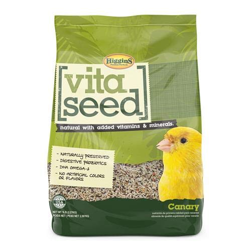 Higgins 466163 Vita Seed Natural Canary 5 Lb (1 Pack) One Size