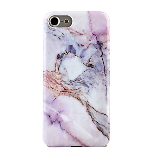 Pink White Marble iPhone 7 Case by Velvet Caviar Protective Phone Cover (Violet Sky Marble)