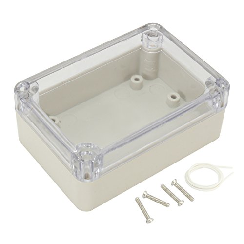 uxcell 3.27 inches x 2.28 inches x 1.3 inches 83mmx58mmx33mm ABS Junction Box Electric Project Enclosure Clear
