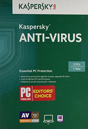 Kaspersky Anti-Virus 2015 (3 PCs) (Antivirus Software 2015 Disc)