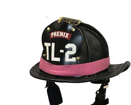LINE2design PINK Firefighter Rubber Helmet Bands For Modern & Traditional Style Fire Helmets Loose 3Pk ()