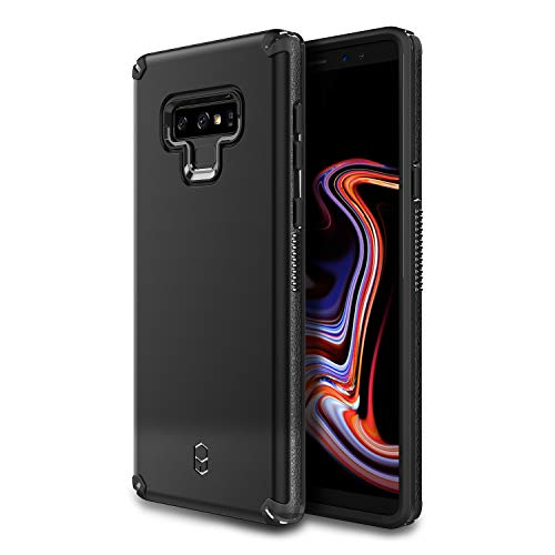 Notes Added - Patchworks Level Arc Case in Black Compatible for Samsung Galaxy Note 9 One Piece TPU PC Hybrid Dual Material Matte Finish Side Grip with Added Air Pocket and Drop Tested Hard Case