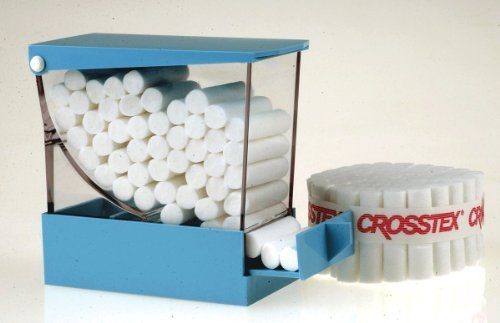 CROSSTEX BRAIDED COTTON ROLLS Roll, Non Sterile, Braided, #2 Medium, 1½'' x 3/8'', 2000/bx, 10 bx/cs