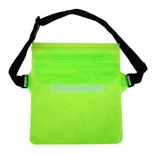 TTnight New Arrival Cool Waterproof Tri-Layer Sealing Plastic Storage Shoulder Wrist Bag for Water Sports (Green)