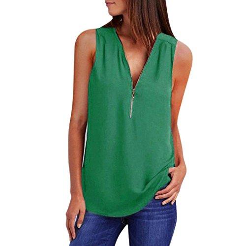 Shirt T Femme Haut Chemisier V Dcontracte Top Chic Moonuy Mousseline pour Longues Tops vert Col Casual Long Manches fpqAZaZxn