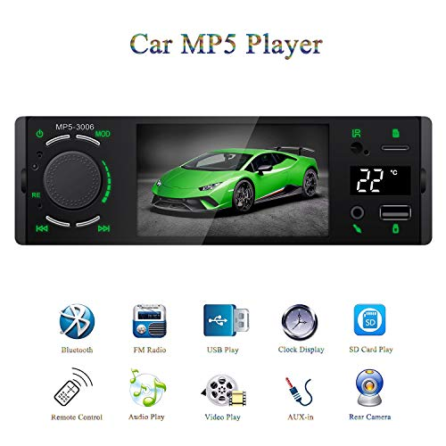 """Honboom 2019 New Designed 4.1"""" TFT 1080P Touch Screen Bluetooth Car Stereo Receiver FM Radio Car MP5 / MP4 / MP3 Player with Real-time Temperature Display, Supports USB / SD / AUX-in, Remote Control"""