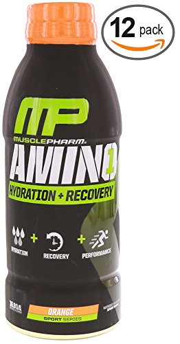 MusclePharm Amino 1 RTD Orange 12 - 16.9 FL OZ Bottles