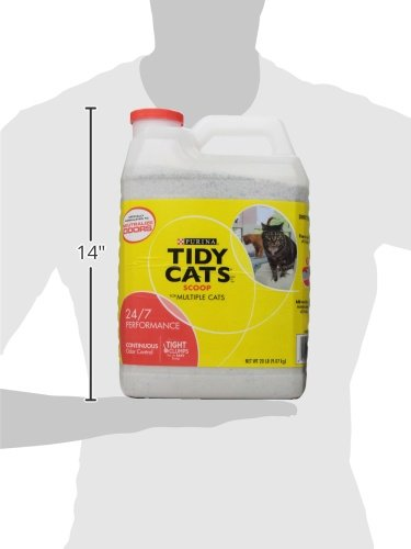 Tidy Cats Scoop Cat Box Litter, Performance Control, for Multiple Cats, 20 lb