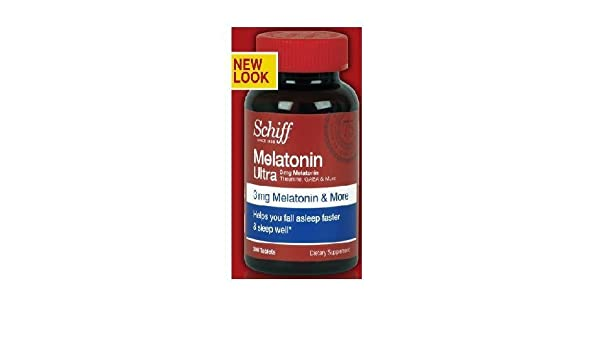 Amazon.com: Schiff Melatonin Ultra 3 mg Melatonin with 25 mg Theanine - For Stress Relief and a Sounder Sleep - 300 Tablets by Schiff: Health & Personal ...