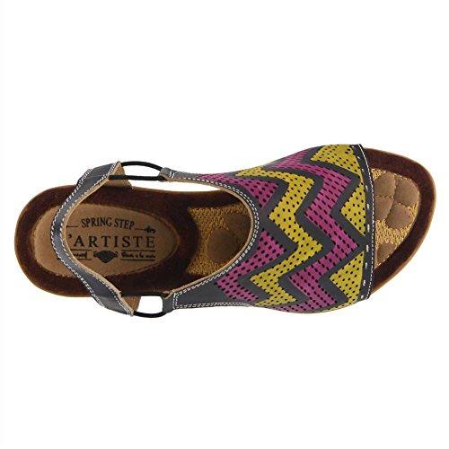 Multi L'Artiste Spring Black Step Women's Sandals by Lailah 5r0xTqw4rY