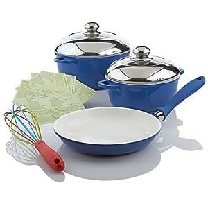 Lorena garcia technolon ceramic nonstick 6 for Perfect kitchen cookware