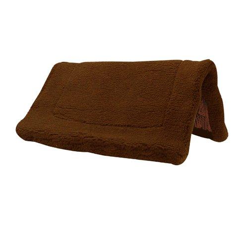 (Intrepid International Western Fleece Non Slip Bottom Pony Pad, Brown)