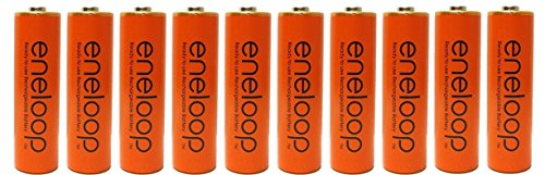 10 Pack Panasonic Eneloop AA 2000mAh, Min.1900mAh NiMH Pre-Charged Rechargeable Batteries With Battery Holder