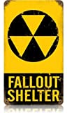 Fallout Shelter Warning Tin Metal Vintage Sign Reproduction For Sale