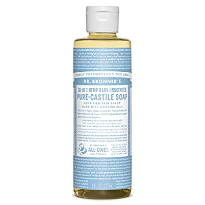 Dr. Bronner Baby Unscented Liquid Soap, 8 Ounce