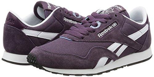 Nylon Hv Sneakers Cl purple meteorite Femme Reebok Gris white Slim vIw5ttx