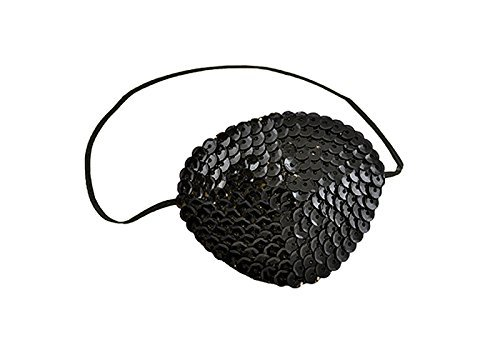 Forum Novelties Women's Sequin Eye Patch-Black, Standard]()