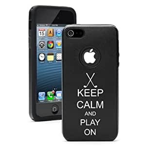 Apple iPhone 5c Black CD1423 Aluminum & Silicone Case Cover Keep Calm And Play On Golf