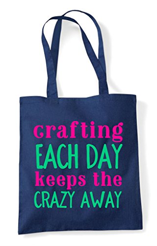 Each Tote Away Crafting Statement Shopper Keeps Bag Navy Day Crazy The Craft 4dqF8d