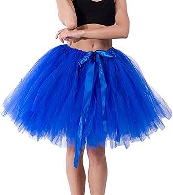 Tefamore Faldas de Tul Faldas Cortas Mujer Verano Perchas Faldas ...